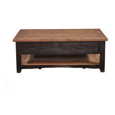 Martin Svensson Home Rustic Coffee Table, Antique Black/Honey Tobacco