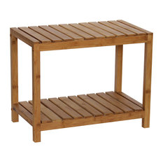 gallerie decor bamboo natural spa bench natural shower benches u0026 seats