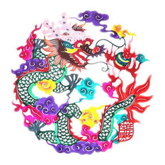 4-Pieces Chinese Traditional Art Paper CutDecor Colorful Collection Souvenir