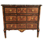 Consigned Louis XVI Commode, France 1780 - Consigned Louis XVI Commode, France 1780, Stunning commode, beautiful marquetry in kingwood, rosewood and other exotic woods with exquisite bronze fittings. With grey-white marble top. In very good condition.
