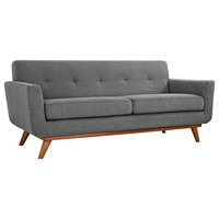 Engage Upholstered Fabric Loveseat, Expectation Gray
