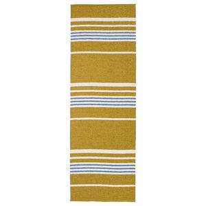 Trail Woven Vinyl Floor Cloth, Gold, 150x210 cm