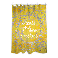 "Oliver Gal ""Your Own Sunshine"" Shower Curtain, 71""x74"""