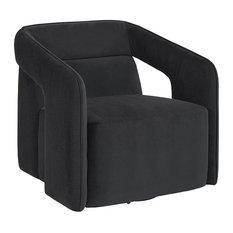 Berthina Swivel Lounge Chair - Abbington Black