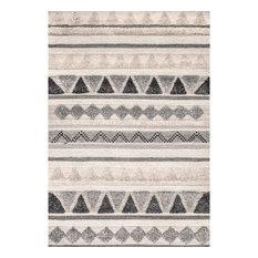 "nuLOOM Mildred Handwoven Geometric Area Rug, Gray, 7'6""x9'6"""