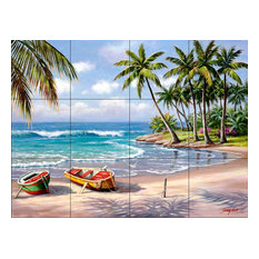 Tile Mural, Tropical Bay by Sung Kim