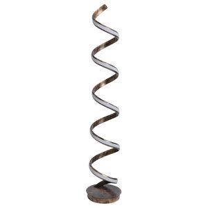 Bronze Spiral LED Floor Lamp