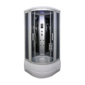 """Corner Steam Shower Enclosure 36"""" x 36"""" Y8004-AS with Bluetooth, lights and more"""