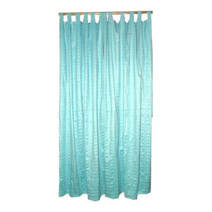 "Mogul Interior - Sari Curtains Panels Tap Top, Set of 2, 108"" - Curtains"