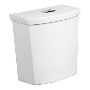 White American Standard 4133A204.020 H2Option Dual Flush Toilet Tank-Left Hand Trip Lever