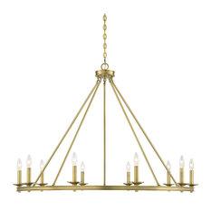 Middleton 10-Light Chandelier, Warm Brass