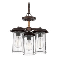 Thornton 3 Light Semi-Flush Mount in Aged Bronze