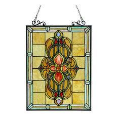 Avalon Tiffany-Glass Victorian Window Panel