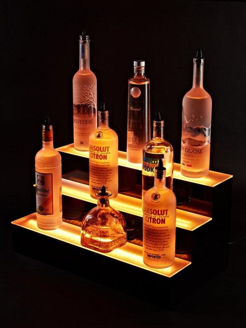 3 Step Liquor Bottle Display