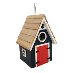 Dockside Cabin Birdhouse, Blue