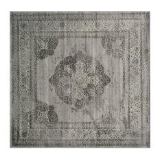 Safavieh Harlow Vintage Inspired Rug Gray 6 X6 Square