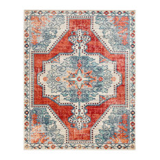"""Henning Updated Traditional  Farmhouse 7'10"""" x 10'3"""" Rectangle Area Rug"""
