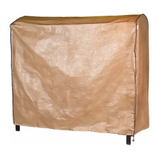 Outdoor Cover for 3-Seat Porch Swing Hammock, Polyethylene, Brown