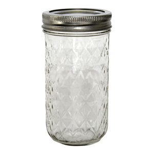 Quilted Crystal Jelly Mason Jars, 360 ml, Set of 12