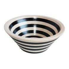 Bernal Fango Black Ivory Ceramic Vessel Sink