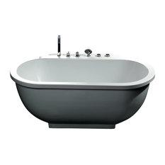Ariel Bath   Ariel Platinum Whirlpool Bathtub 71x37.4x27.5   Bathtubs