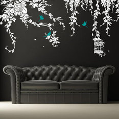 pop decors elegant leaves wall decal wall decals - Wall Decals