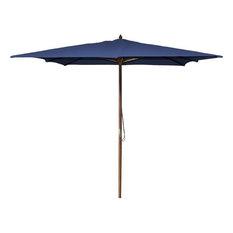 Jordan Manufacturing 8.5' Square Wooden Umbrella, Navy