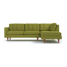 Apt2B - Logan 2-Piece Sectional Sofa Green Apple Chaise on Right (  sc 1 st  Houzz : firm sectional sofa - Sectionals, Sofas & Couches