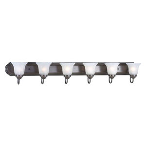 Progress Lighting P3056-20 Builder Bath Series Six-Light Bath Bar with Etched