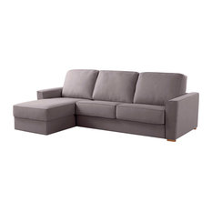 Wales Left Chaise Longue Sofa Bed, Ash Grey
