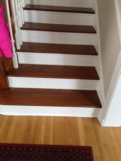 Stain Floors To Match Stairs