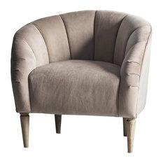 Tulip Velvet Tub Chair, Wheat