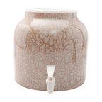 Goldwell Designs Marble Water Dispenser Crock, Gold