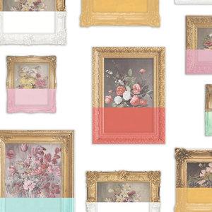Floral Still Life Wallpaper, White