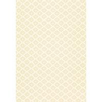 Schumacher Ziggurat Printed Wallpaper, Alabaster