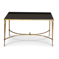 antibes french art deco regency style brass black granite end table side tables and end art deco style furniture occasional coffee