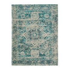 Camlin Teal Patterned Floor Rug, 170x120 cm