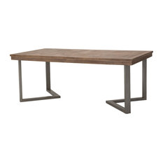 "Hudson Ferry Rect. Dining Table With Ext 96"" Driftwood"
