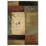 """Newcastle Home - Harrison Geometric Beige and Green Rug, 1'10""""x3'3"""" - Affordable elegance at its best, Harrison pairs sophisticated, traditional to casual designs with modern color ways, including true red and pure ivory, as well as organic hues of green, blue, and terra cotta.  Machine woven of heat-set polypropylene, Harrison is rich in style and value."""