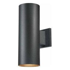 """Volume Lighting V9635 2 Light 14"""" Tall Outdoor Wall Sconce - Black"""
