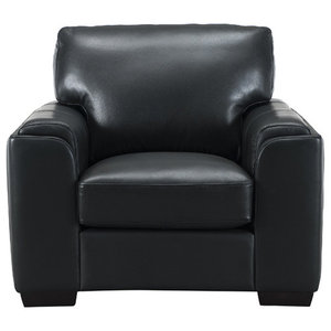 Suzanne Leather Craft Chair, Black