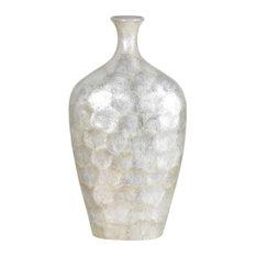 "Cal Lighting 18.5"" Tropical / Safari Genuine Seashell Vase"