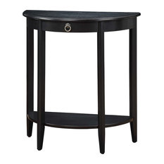 Half Moon Console Table With Drawer Black