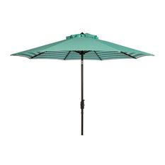 Athens 9 ft. Crank Outdoor Auto Tilt Umbrella in Green