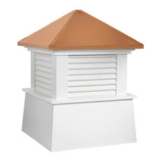 """Manchester Vinyl Cupola With Copper Roof, 18""""x22"""""""
