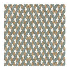 """SomerTile 7.75""""x7.75"""" Puccini Ceramic Floor/Wall Tiles Grid, Set of 25"""