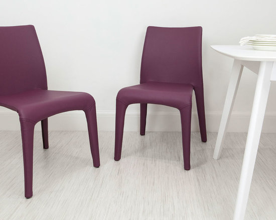 Mulberry Purple Argenta Faux Leather Dining Chair Chairs