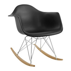 Molded PP Plastic Lounge Chair, Black