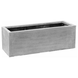 Raised Fiberstone Trough Grey Planter, 60x150x50 CM
