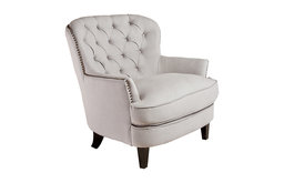 Watson Natural Linen Upholstered Club Chair